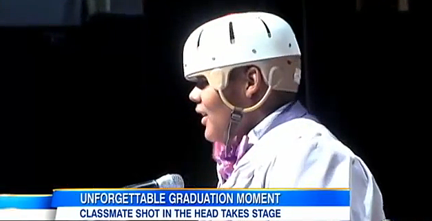 Balaal Hollings Speaks At Graduation After Being Shot