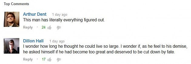 Skater YouTube Comments