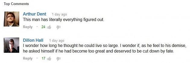 Skater YouTube Comments