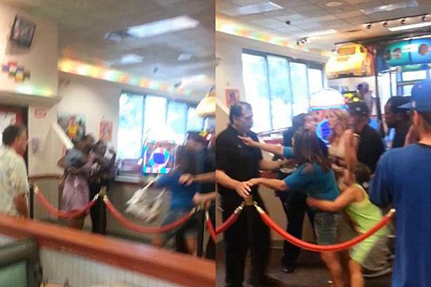 Women Fight At Chuck E Cheese