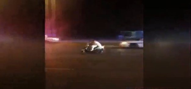 Moped Police Chase