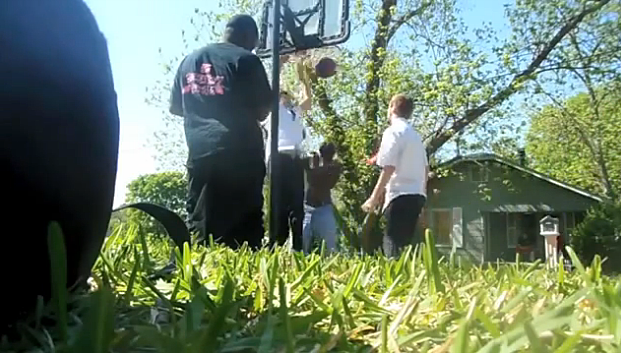 Possible Mormon Missionaires Surprise Black Guys in a Street Basketball Game