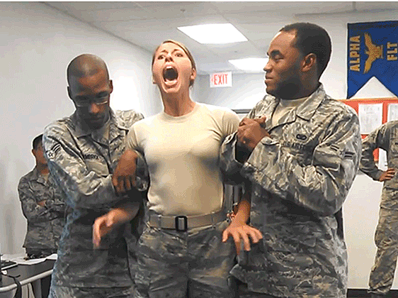 U.S. Airman Gets Tasered and Aides Feel the Shocking Pain