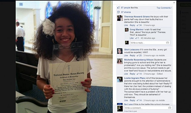 Florida School Threatens to Kick Out Black Student Over Her Natural Hair