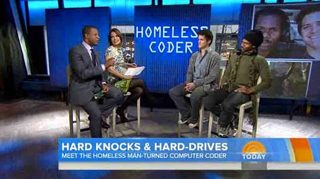 Homeless Man Was Taught Coding and Released His First Mobile App