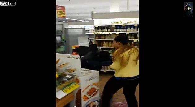 Disrespectful Boy Fights Mom in Grocery Store Over Eating Grapes