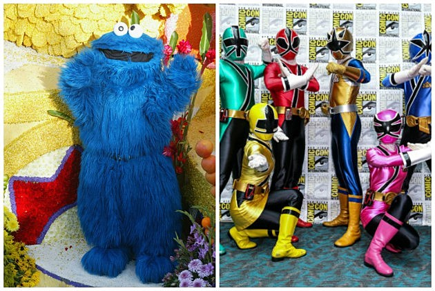Cookie Monster Vs. The Power Rangers
