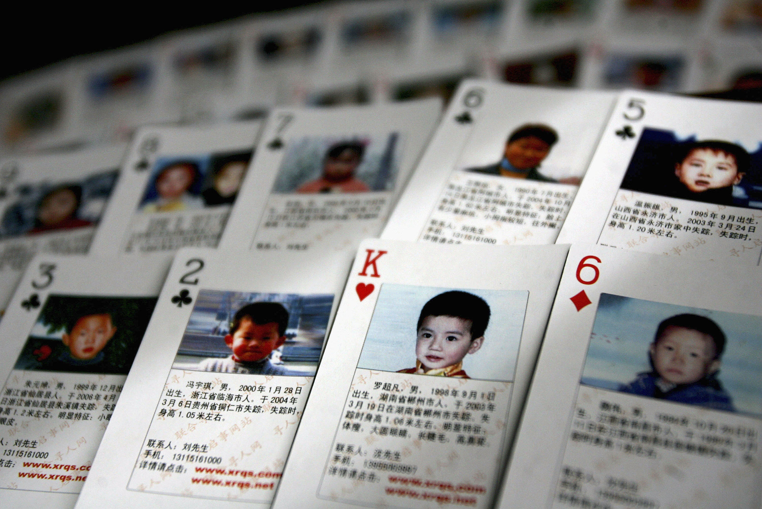 Volunteer Creates Playing Cards To Help Find Missing Children